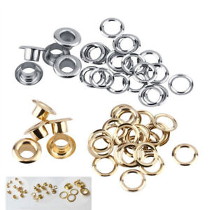100pcs/bag Multi-function 5mm Hole DIY Metal Eyelets Grommet for Leather Craft o