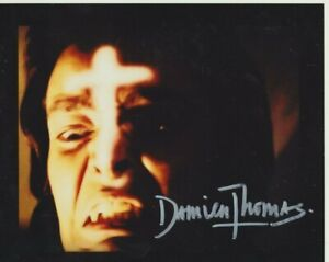 """Damien Thomas In Person signed 10"""" x 8"""" photograph - Twins of Evil - P341"""