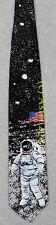 ASTRONAUT AND FLAG NASA MAN MOON APOLLO ASTRONOMY Ralph Marlin Silk Necktie NEW!