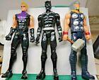 12 inch Marvel Avengers 3 Lot Black Panther Thor Hawkeye  Action Figures Set