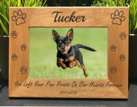 Personalized Engraved // Dog Memorial // Picture Frame