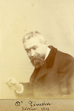 France, Médecin Dr. Daniel Témoin, 1907, Vintage citrate print vintage citrate p