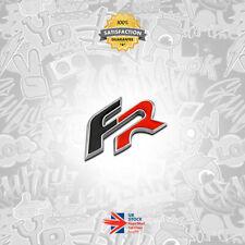 FR Metal Badge Emblem Sticker Black Red Seat Cupra Ibiza Leon Turbo Rear Boot 15