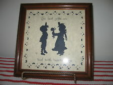 Framed Heartstrings Scherenschnitte Signed Designs With Scissors 1987 Valentine