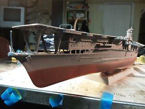 Built plastic model in 1/450 scale of the japanese carrier Akagi