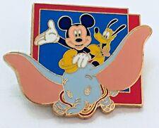 Disney Mickey Mouse & Pluto Riding On Dumbo Trading Pin 2011 Rare