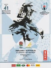 RUGBY WORLD CUP QUARTER FINAL PROGRAMME 2019 ENGLAND v AUSTRALIA