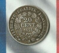 1851 France 20 Centimes- 90% Silver- Pretty nice 170 year old French Silver Coin