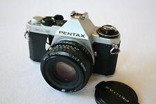 Pentax ME SUPER Pellicola Fotocamera & SMC Pentax A 50mm 1,7 M / F LENS-OTTIMO