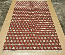 Hand Woven Area Rugs Tribal Turkish Flat Weave Kilim Wool Dhurrie 5 X 8 Rug
