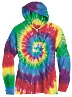 Dyenomite - Tie-Dyed Hooded Pullover T-Shirt - 430VR