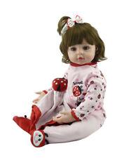 "22"" 55cm Realistic Reborn Baby Girl Doll Vinyl Silicone Dolls Lifelike Toddler"