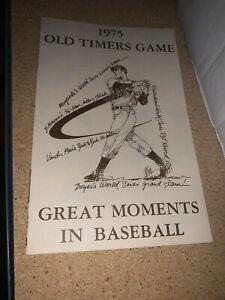 1975 Atlanta Braves Old Timers Game Baseball Program  w/Joe DiMaggio