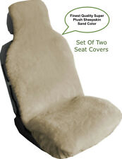 SHEEPSKIN SEAT COVERS SEAT WRAPS TWO SUPER PLUSH TOP QUALITY AUSTRALIAN SAND ©