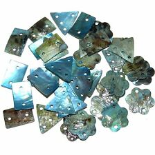 S915f Blue Chinese Mussel Shell Mix Drop & Link Gemstone Beads Assortment 36pc