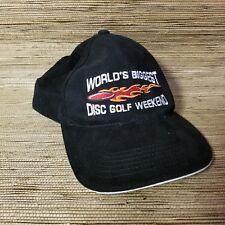 World's Biggest Disc Golf Weekend Black Adjustable HatNew Collectible