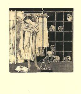 Ex Libris Bookplate Exlibris Etching Ivan Rusachek - Belarus