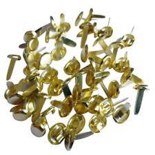 200pcs Mini Gold Plated Metal Brads Paper Fasteners Scrapbooking Paper Craft