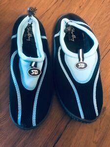 Womens 10 Star Bay Blue & Black Water Swim Pool Shoes Aqua Socks