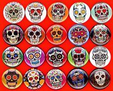 Sugar Skulls x 20 NEW buttons pins badges dia de los muertes day of the dead