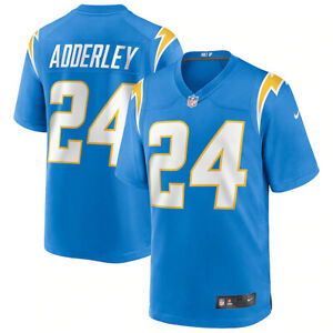 Brand New 2021 NFL Nasir Adderley Los Angeles Chargers Nike Game Player Jersey