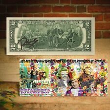WILLY WONKA $2 US Bill Dreamers of Dreams - Signed by RENCY Ltd. of 171
