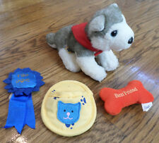 Build a Bear Puppy Dog Set with Magnatized Training toys Ball Ribbon and Shoe