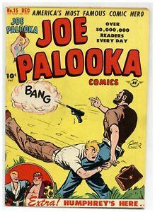 Joe Palooka Comics 15 (Nice) 1st apps of Humphrey Little Max Atoma 1947 (j#2074)