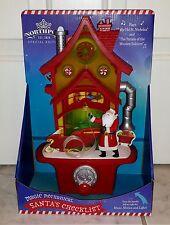Hallmark North Pole Santa And Elves Magic Mechanical Santa's Checklist House