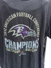 2012 American Football Conference Champs Baltimore Ravens Tee Shirt Sz Large