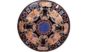 "36"" Marble Dining Table Top Pietra Dura Inlay Mosaic Work Garden Decorative B565"