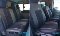 FORD TRANSIT CUSTOM DOUBLE CAB 2017 2018 2019 ECO LEATHER & ALICANTE SEAT COVERS