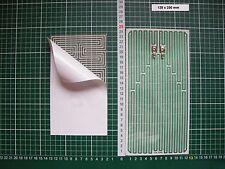 Heizfolie Spiegelheizung Heizplatte Heizmatte Heizplatine 128 x 250 mm 12 Volt