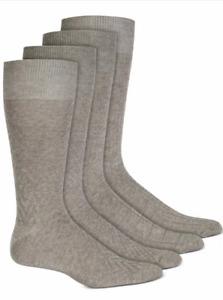 Men's Alfani Textured Casual Dress Socks Gray 4 Pairs