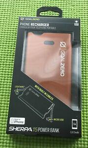 Goal Zero Sherpa 15 COPPER Power Bank 3870mAh Lightning & Micro USB for iPhone