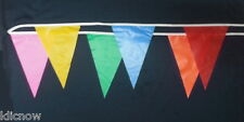 Multicolored Bunting 30 Flags 9 metres PVC (Reusable)