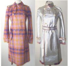 JUNYA WATANABE COMME des GARCONS Plaid Wool Mohair Reversible Silver Coat  XS  S