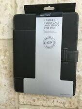 Ipad 2 Grey Leather Case With Stand - New In Retail Packaging