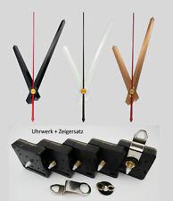 Quarz Uhrwerk + Zeiger Set 110 mm Alu 11 cm weiß schwarz gold leise lautlos NEU