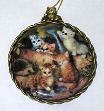 "Kitten Cats Expeditions Ornament "" On The Garden Path "" 1997 Bradford Exchange"