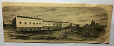 "Harpers Civil War - 1862 - ""FORT MONROE VIRGINIA - VIEW FROM THE BANK"" -"