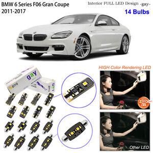 14 Bulbs LED Interior Dome Light Kit Xenon White For F06 BMW 6 Series Gran Coupe
