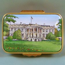 Halcyon Days Enamel Trinket Box Whitehouse Ltd Ed Fdr Roosevelt 'Owned By' Quote