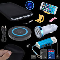 Accessory Bundle QI Wireless Charger Card Reader Sleeve Case for iPhone 8 Plus X