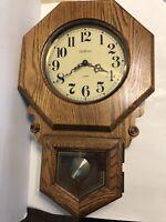 "Waltham Quartz Westminister Chime Wall Clock 24"""
