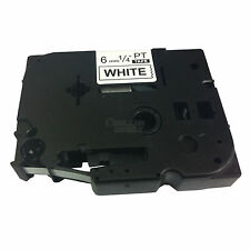 5x Brother Compatible TZ211 Black on White P-Touch 6mm Label Tape TZe-211 TZ-211