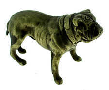 BRONZE BULLDOG C.1900 VICTORIAN STATUE MINIATURE GREAT GIFT DOG