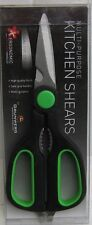 Grunwerg Multi Purpose Kitchen Shears Black & Green Handles new