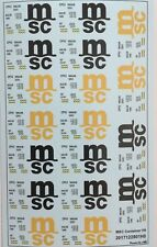 MSC Container Decals 1:87 oder H0