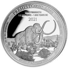 Kongo Prehistoric Life Wolly Mammoth Wollmammut Mammut 2021 1 oz 999 Silber